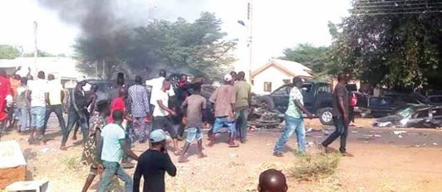 Hoodlums attack APC campaign rally in Abuja, burn nine vehicles