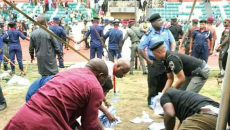 Nigeria Election: Thugs chase away INEC officials at Egor/Ikpoba-Okha collation centre