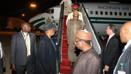 Buhari Arrives Jordan