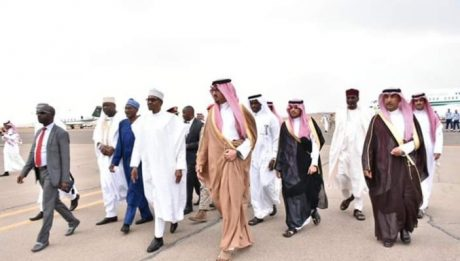 President Buhari Arrives The City Of Madina