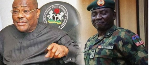 Nigeria Army Reacts To Gov. Wike's Oil Bunkering Allegation Against Gen. Sarham