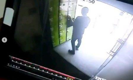 Boy Stealing In Fidelity Bank, Lekki Caught On CCTV