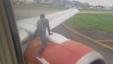 Police identify man who climbed aircraft at Lagos airport