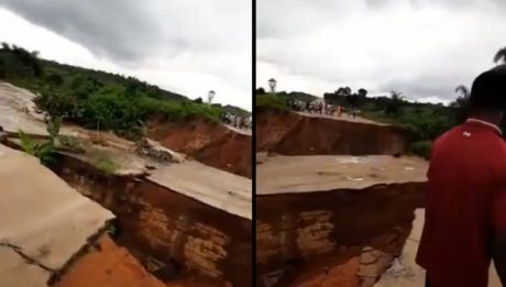 Flood Washes Away Bridge In Imo