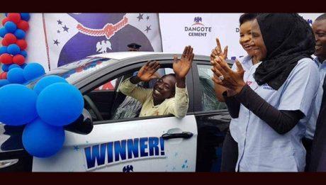 Labourer Won A Saloon Car From Dangote