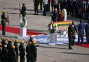supporters bid farewell to Zimbabwe's Mugabe