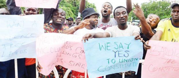 NURTW Members Protest
