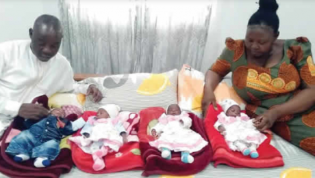 Man whose wife had quadruplets after 15 years' delay