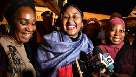 Aisha Buhari returns after two months abroad