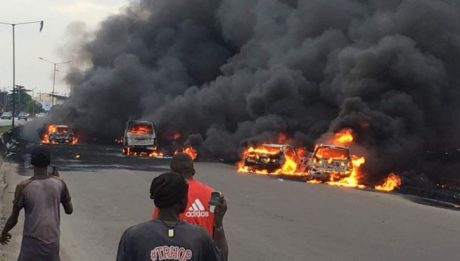 Another fuel tanker catches fire in Onitsha