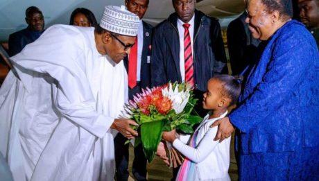 Buhari arrives South Africa