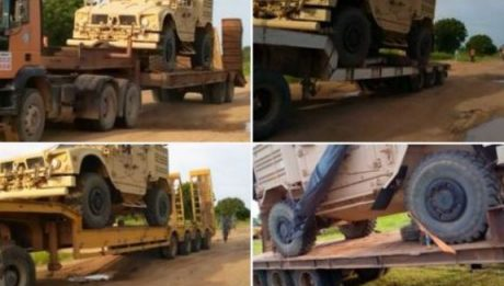 Nigeria hands over seized mine-resistant vehicles to the United States