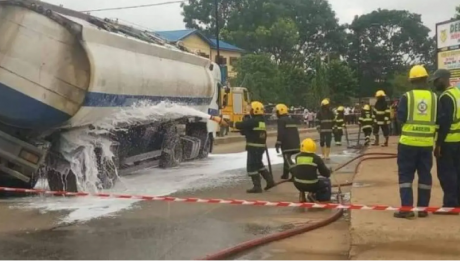 Another petrol tanker falls
