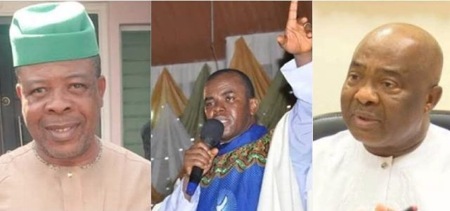 Fr Mbaka's prophecy: Social media goes wild as Supreme Court sacks Ihedioha for Uzodinma
