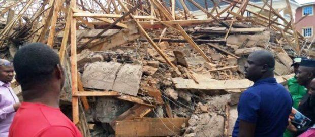 Three-storey building collapses in Enugu