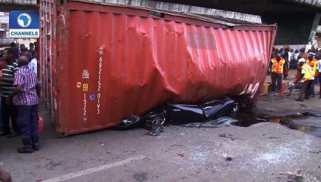 Trailer Crashes Into Shops In Lagos