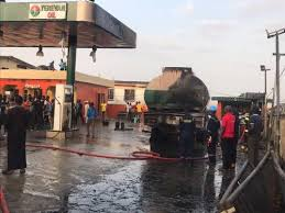 Fire Guts Petrol Station In Lagos