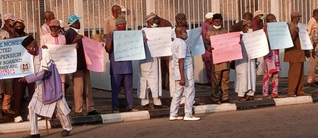 Nigerian Civil War Veterans Protest Against Nonpayment of 20 Months