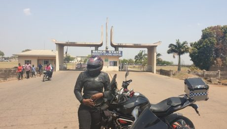 Lady Travels Across Seven States Within Seven Days With A Bike