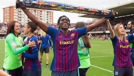 Oshoala Crowned Spanish Women's League Champions