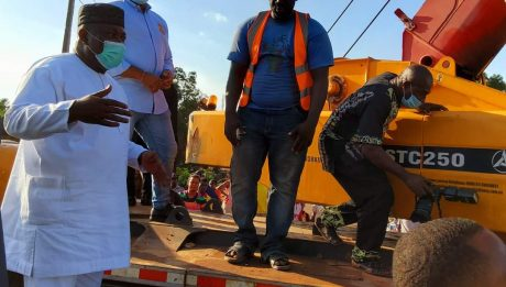 Gov. Ugwuanyi Leads Rescue Operation At Accident Scene