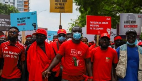 Ghana opposition supporters march against killings