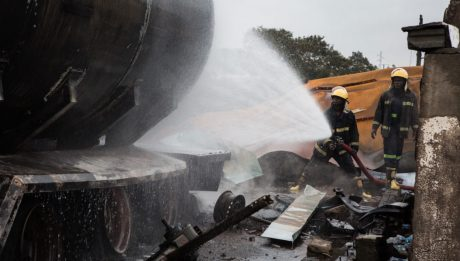 Tanker explosions, market fires and human safety