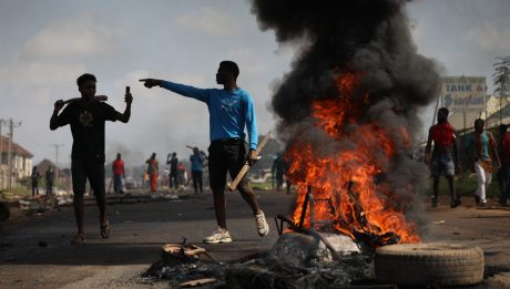 Nigerian youths protest a year after bloody crackdown
